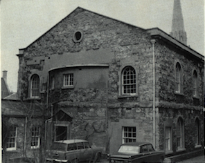 1818 Chapel from the rear showing spire of Wesley Memorial beyond