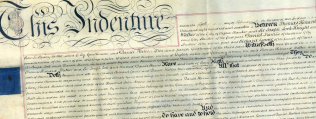 Detail of the indenture by which the Methodists acquired land from Daniel Harris
