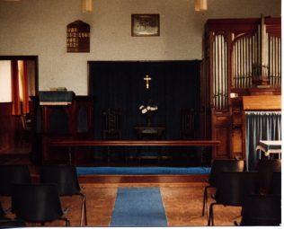 Interior view of communion area