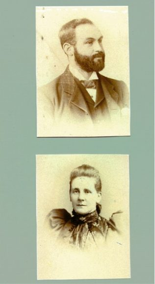 Separate photographs of James and Julia Salter