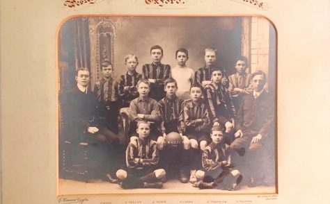 School football team photo