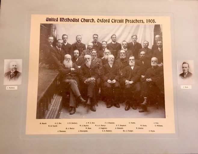Black and white photograph of male preachers from the United Methodist circuit 1908 | WMC