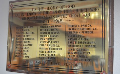 Wesley Memorial Church war memorial stories