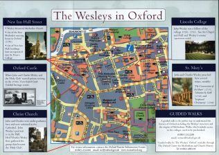 Map showing key locations known to the Wesley brothers. | OCMCH