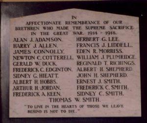 Cowley Road Methodist Church war memorial stories