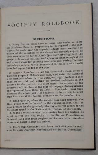 Primitive Methodist Society Roll Book 1932