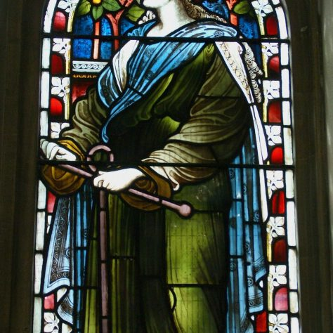 Stained glass of female figure representing hope | WMC