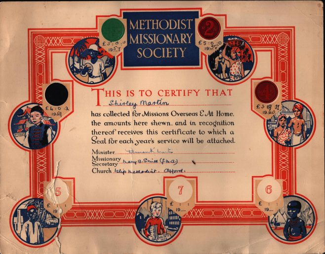 Certificate from the 1950s