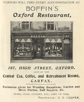 Image of Boffin's restaurant at 107 High Street