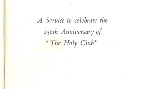 Holy Club Anniversary