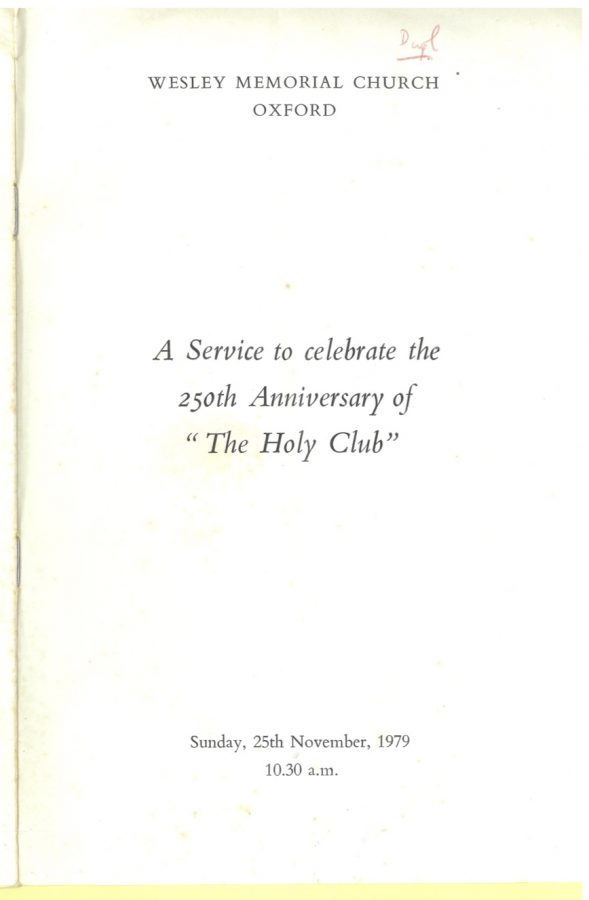Anniversary booklet cover