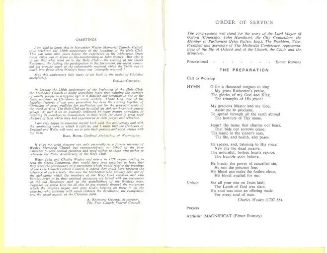Thanksgiving Order of Service 1 | WMC