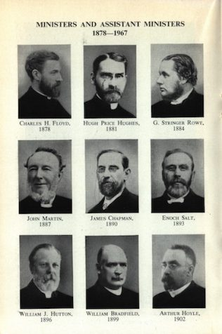 List of Ministers of Wesley Memorial Church