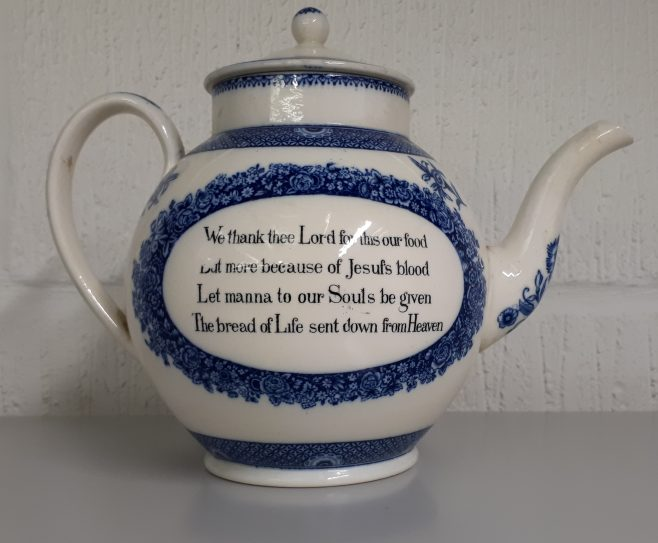 Wesley Wedgwood Teapot   Lincoln College, Oxford
