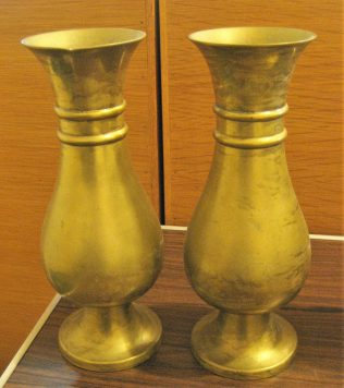 Pair of brass flower vases | GKirby