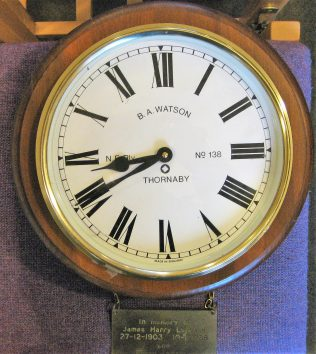 Electric wall clock given in loving memory of James and Grace Leppard | GKirby