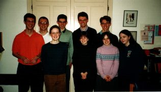 Group photo in the choir vestry at Wesley Memorial. I am at the back on the left.